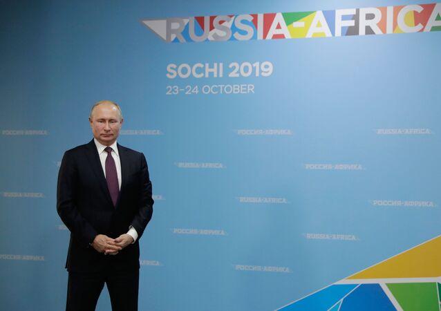 Russian President Vladimir Putin at Russia-Africa summit