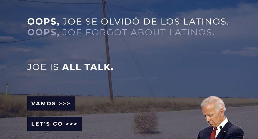 TodosConBiden Fake Website Created by Trump Campaign