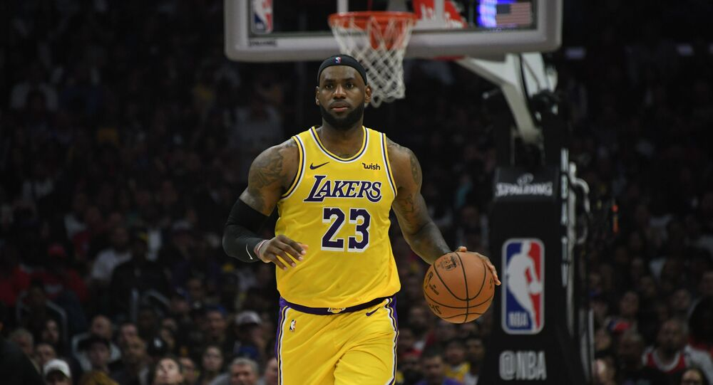 Oct 22, 2019; Los Angeles, CA, USA; Los Angeles Lakers forward LeBron James (23) dribbles the ball in the second half against the LA Clippers at Staples Center