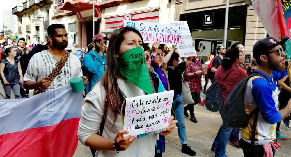 Protests in Mexico over situation in Chile