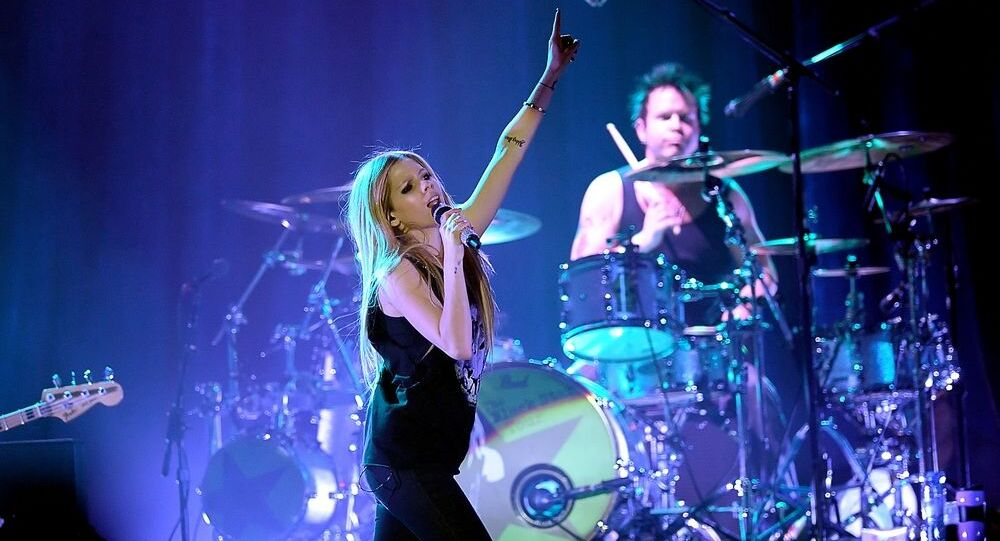 Avril Lavigne performing at a concert in September 2011