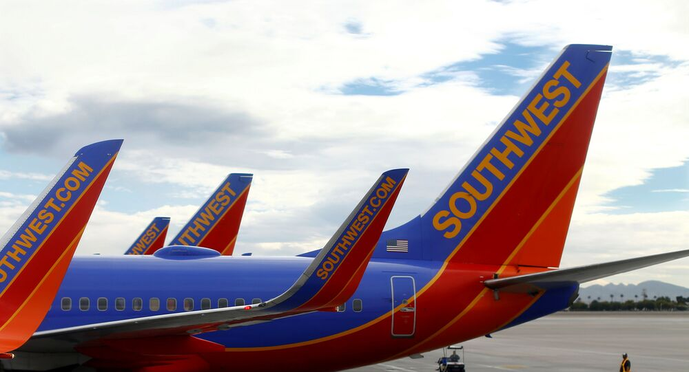 FILE PHOTO: Southwest commercial airliners taxied at McCarran International Airport in Las Vegas, November 19, 2014.