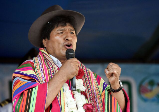 Bolivia's President Evo Morales speaks during a ceremony in Sicaya, Cochabamba, Bolivia, October 26, 2019. Picture taken October 26, 2019.