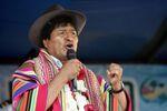 Bolivia's President Evo Morales speaks during a ceremony in Sicaya, Cochabamba, Bolivia, October 26, 2019. Picture taken October 26, 2019.