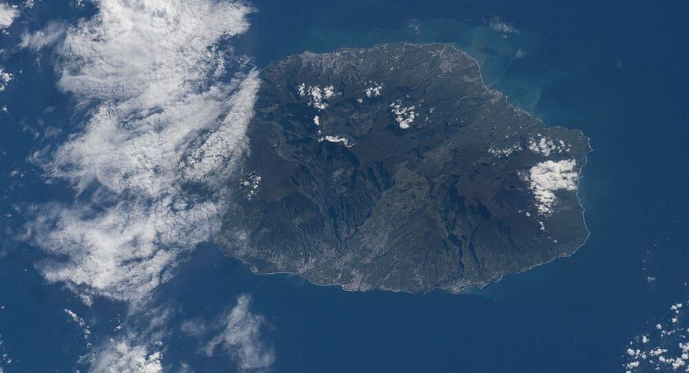 Reunion Island, a French region off the coast of Madagasca