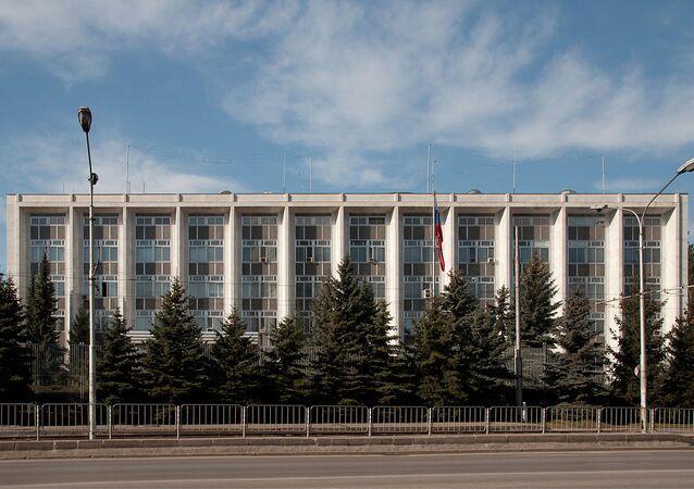 Russian embassy in Sofia, Bulgaria.