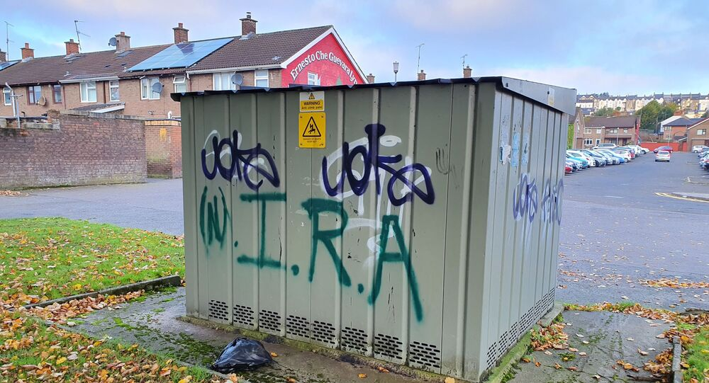 Graffiti in Derry in support of the New IRA