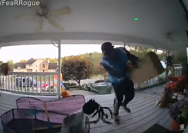 Halloween Decorations Spook Amazon Delivery Man, Send Him Running