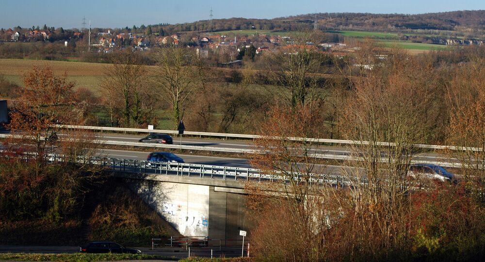 Dielheim - Autobahn A6 und Kreisstrasse 4171 - 2016-12-03