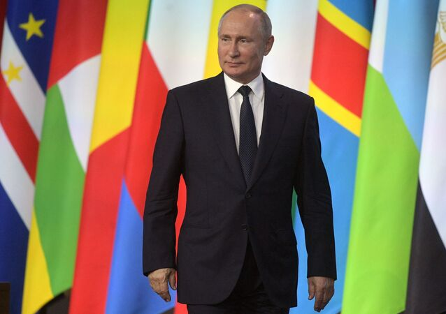 Russian President Putin takes part in the Russia-Africa Forum
