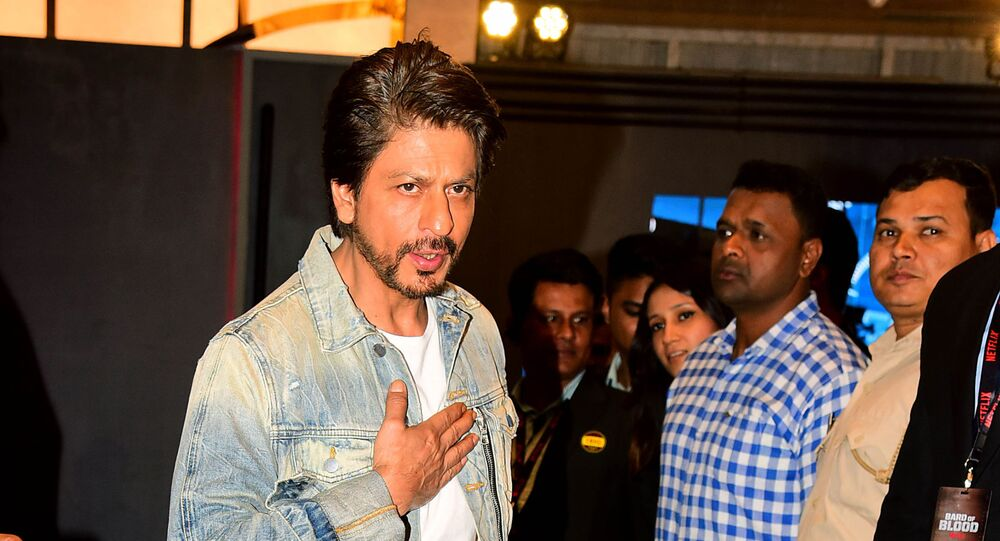 Indian Bollywood actor Shah Rukh Khan attends a screening of upcoming Indian spy thriller Netflix series Bard of Blood in Mumbai on 23 September 2019.