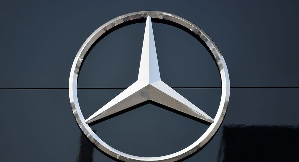 The logo of Mercedes