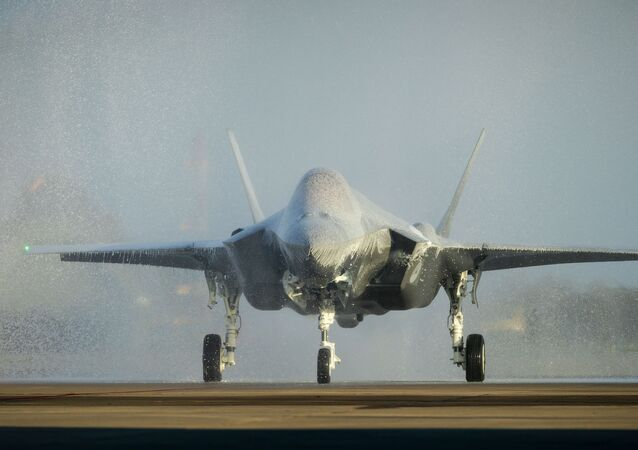 First F-35, also known as the Joint Strike Fighter, lands at Leeuwarden Air Base in Leeuwarden, The Netherlands, on October 31, 2019