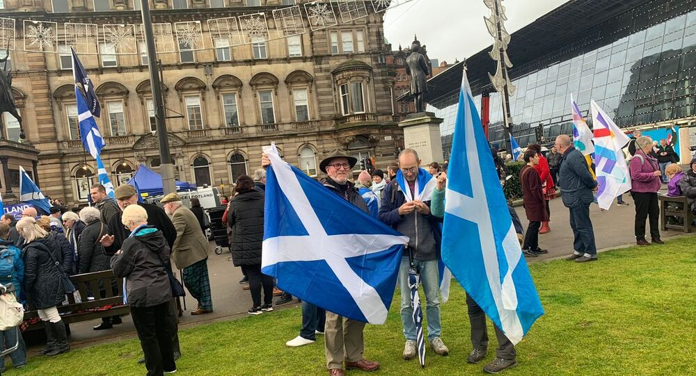 Independence Supporters Turn Out For IndyRef2020 Demonstration