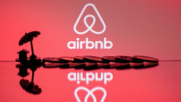 The logo of  rental website Airbnb - Sputnik International