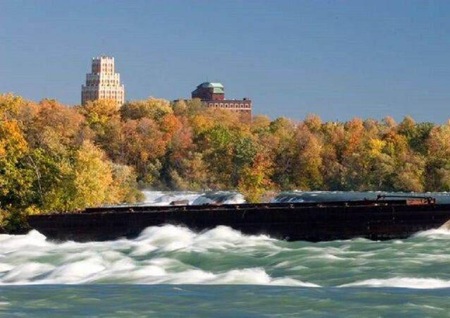 Boat Trapped on Edge of Niagara Falls for 101 Years Moves after Halloween Night Storm