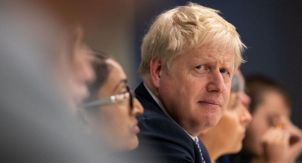 Britain's Prime Minister Boris Johnson visits Metropolitan Police training college in Hendon, London, Britain October 31, 2019.