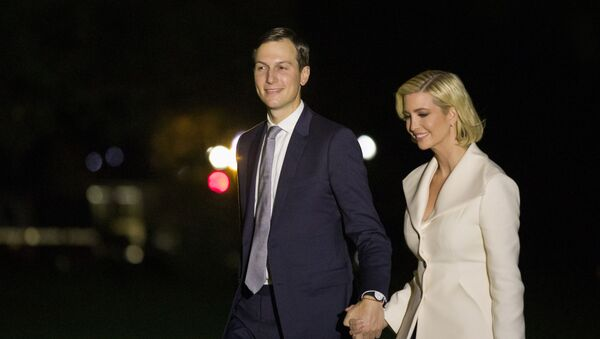 White House Senior Adviser Jared Kushner and his wife Ivanka Trump, the daughter and senior adviser to President Donald Trump, walk to the White House after stepping off Marine One on the South Lawn of the White House, early Friday, Oct. 18, 2019, in Washington. - Sputnik International