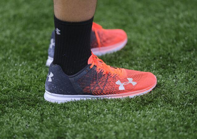 Under Armour orange shoes