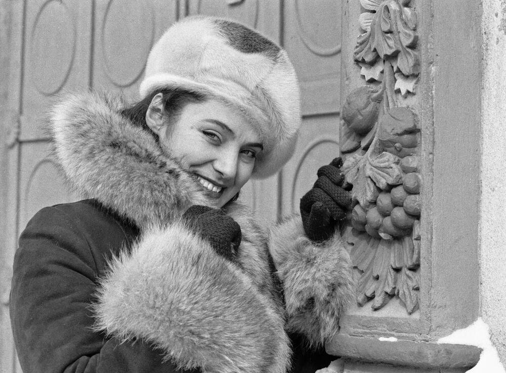 Model wears a creation by a Tatar designer (1980)