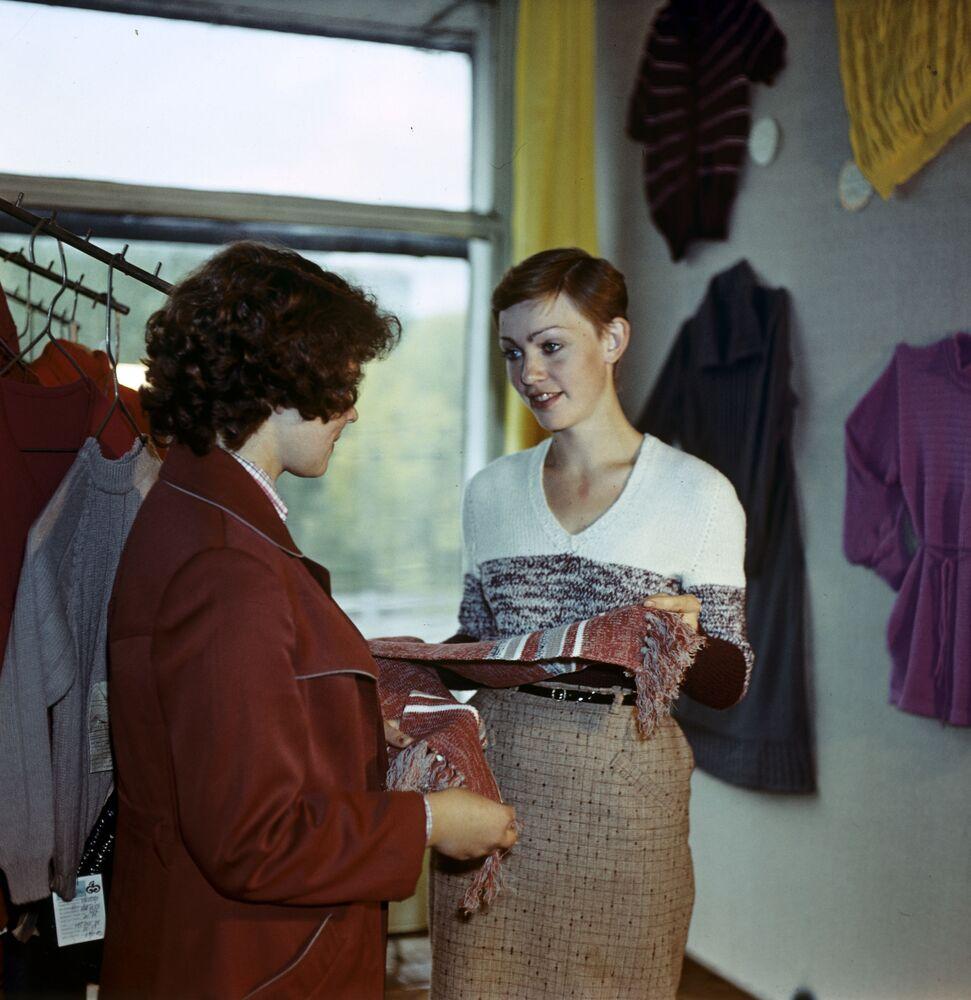 In a knitwear store (1981)