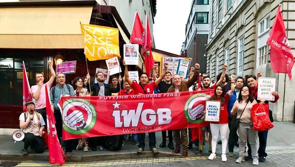Workers at 5 Hertford Street go on strike - Sputnik International