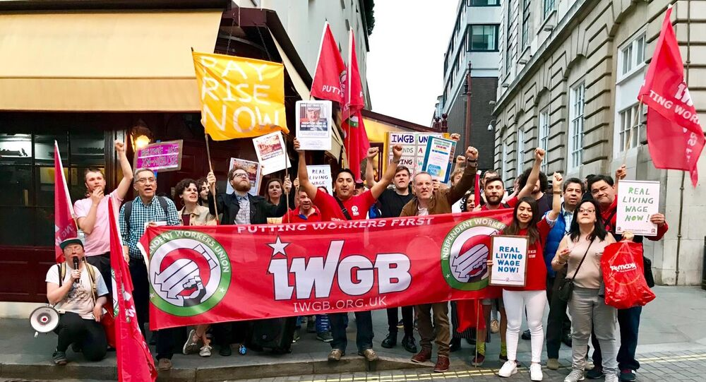 Workers at 5 Hertford Street go on strike