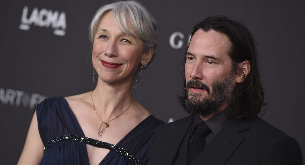 Keanu Reeves and Alexandra Grant arrive at the 2019 LACMA Art and Film Gala at Los Angeles County Museum of Art on Saturday, Nov. 2, 2019, in Los Angeles