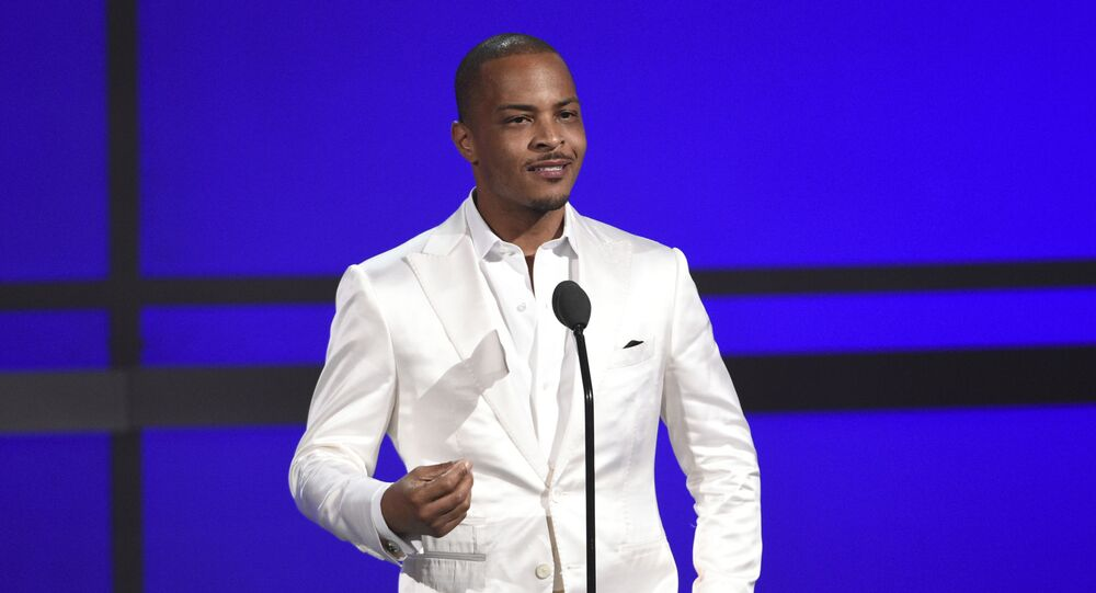 FILE - This June 23, 2019 file photo shows Tip T.I. Harris at the BET Awards in Los Angeles