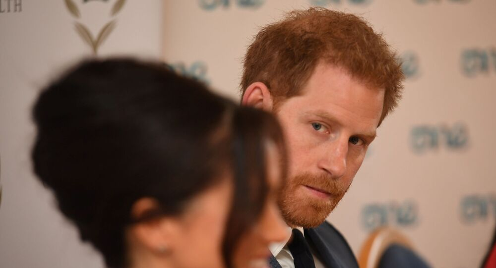 Britain's Meghan, the Duchess of Sussex, and Prince Harry, Duke of Sussex, attend a roundtable discussion on gender equality with The Queen's Commonwealth Trust (QCT) and One Young World at Windsor Castle, Windsor, Britain 25 October 2019.