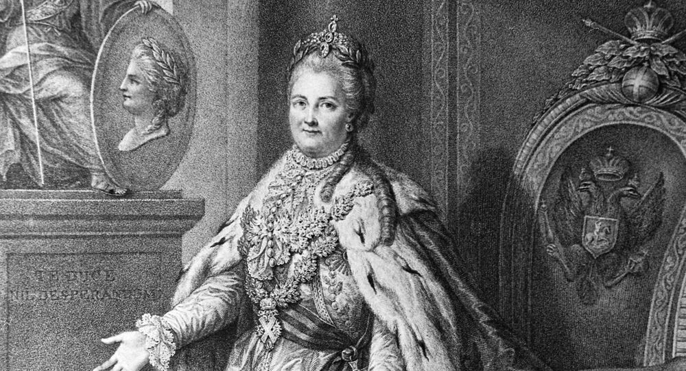 Empress of Russia Catherine the Great, a 1785 engraving by Francesco Bartolozzi.