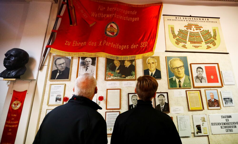 People visit the GDR-Museum in Pirna, Germany; picture taken 16 October 2019.