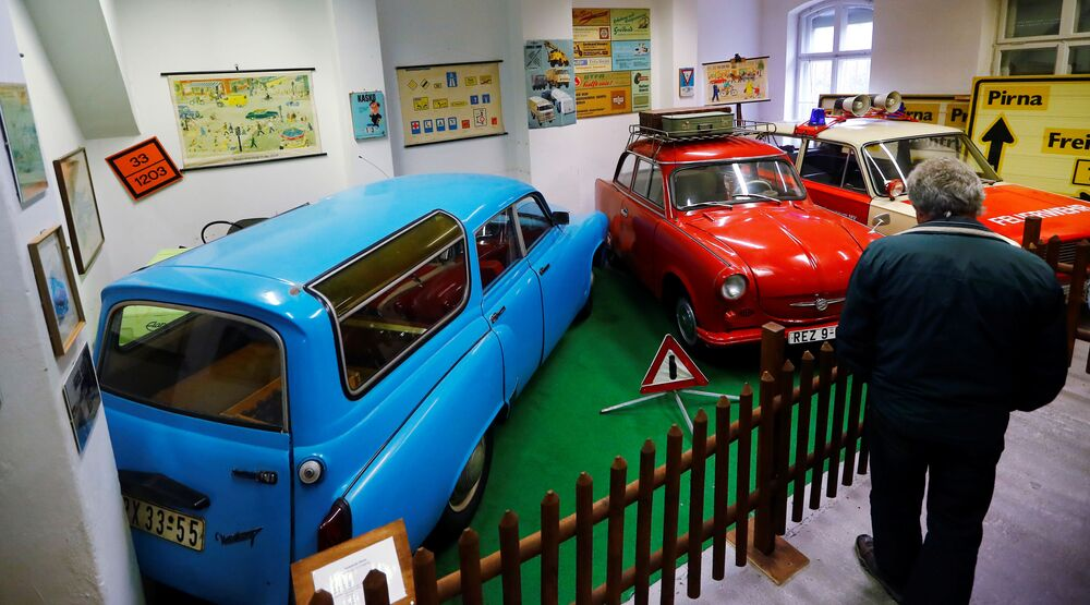 A man visits the GDR-Museum in Pirna, Germany, October 16, 2019; picture taken 16 October 2019  REUTERS/Hannibal Hanschke