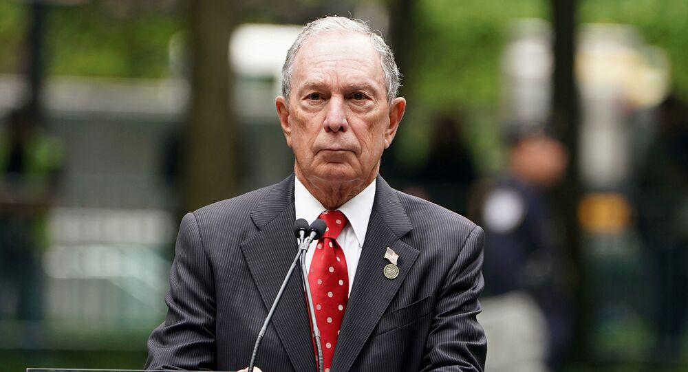Former Mayor of New York Michael Bloomberg speaks in the Manhattan borough of New York, New York, U.S., May 30, 2019