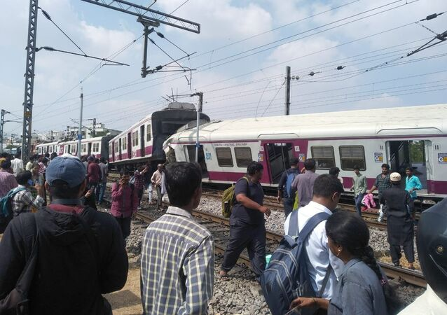 Two trains have collided at Kacheguda Railway Station