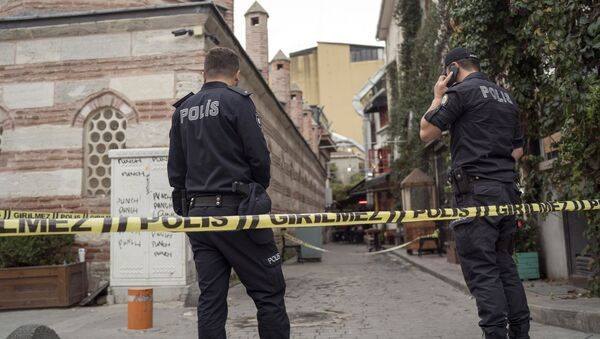 Police forensic officials work at the site after former British army officer who helped found the White Helmets volunteer organization in Syria, James Le Mesurier's body was found in Istanbul, early Monday Nov. 11, 2019 - Sputnik International