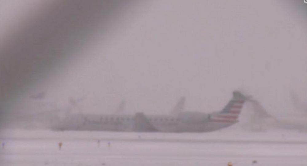 Plane Skids Off Snow-Covered Runway as Brutal Arctic Blast Hits Eastern US