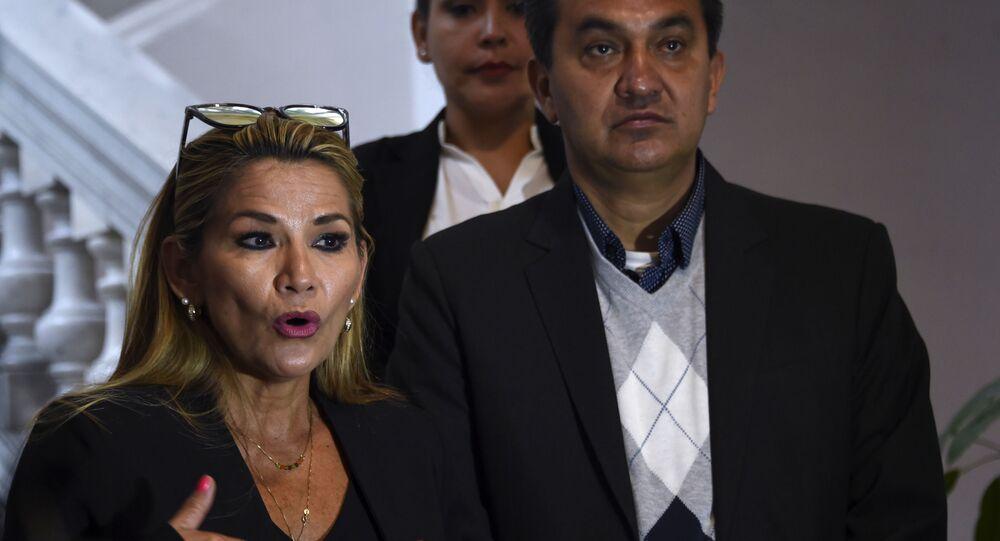 Bolivia's deputy senate speaker Jeanine Anez