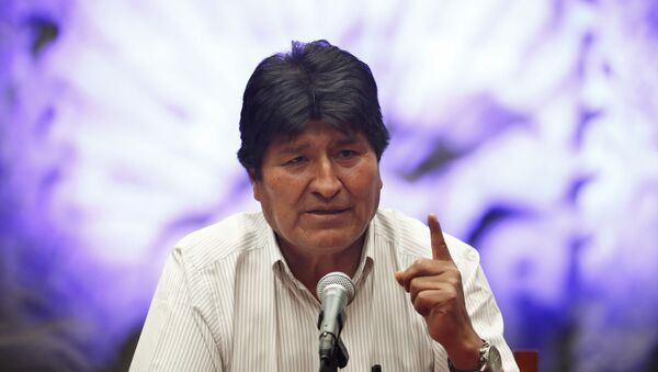 Bolivia's former President Evo Morales at a press conference at the Museum of Mexico City - Sputnik International