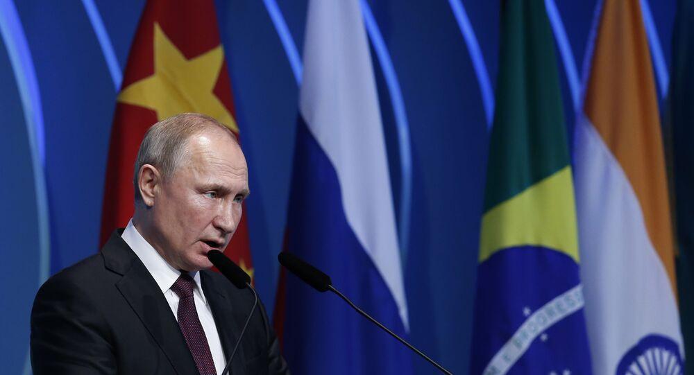 Russia's President Vladimir Putin at the BRICS Business Council