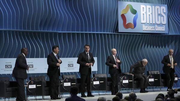 BRICS Leaders at the BRICS Business Council - Sputnik International