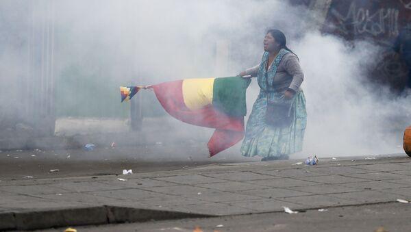 A supporter of former President Evo Morales in La Paz - Sputnik International
