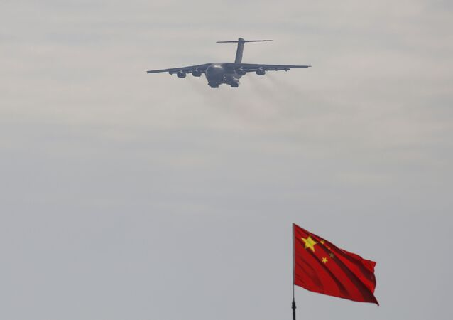 A Y-20 transport aircraft at the 12th China International Aviation and Aerospace Exhibition