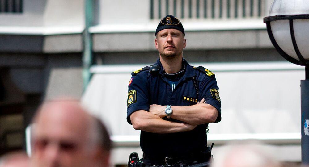 A police officer in Helsingborg (Sweden)