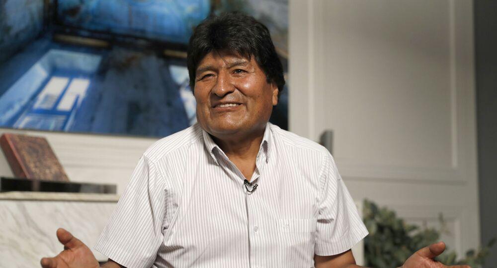 Former Bolivian President Evo Morales in Mexico City