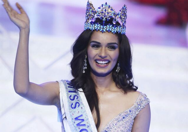 India's Manushi Chillar is crowned Miss World during the beauty pageant held in Sanya in southern China's Hainan province on Saturday, Nov. 18, 2017