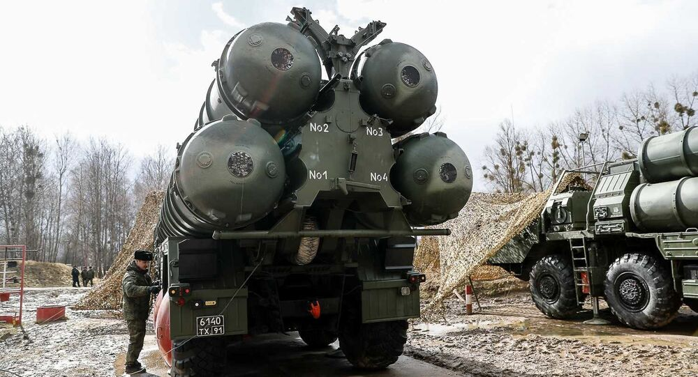 Russian S-400 Triumph missile system launchers