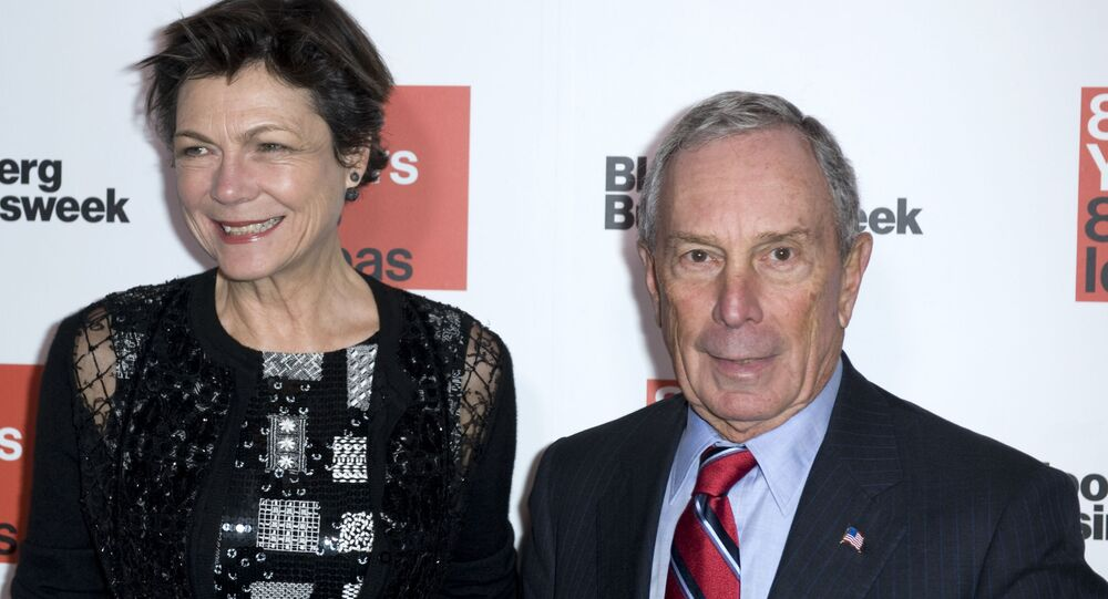 Michael Bloomberg, right, and Diana Taylor attend Bloomberg Businessweek's 85th Anniversary celebration at the American Museum of Natural History on Thursday, Dec. 4, 2014, in New York. (Photo by Stephen Chernin/Invision/AP)