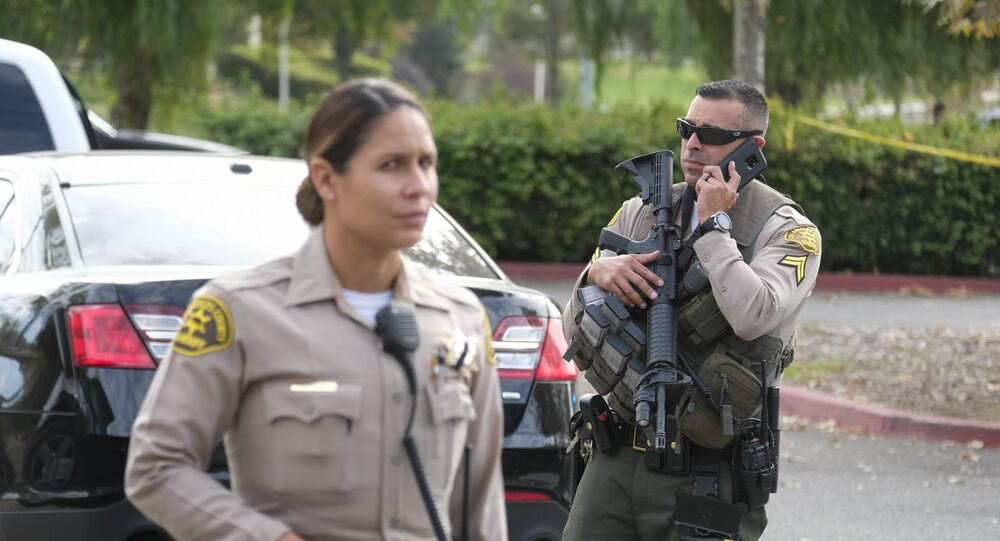 Police officers in Santa Clarita in California