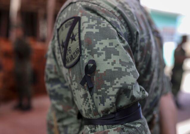 A Mexican army soldier in Veracruz, Mexico